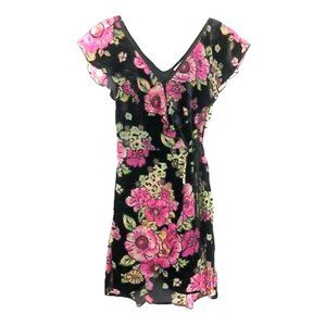 BAND OF GYPSIES Size M Dress Velvet Floral